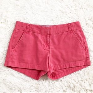 J. Crew Coral Pink chino shorts size 2